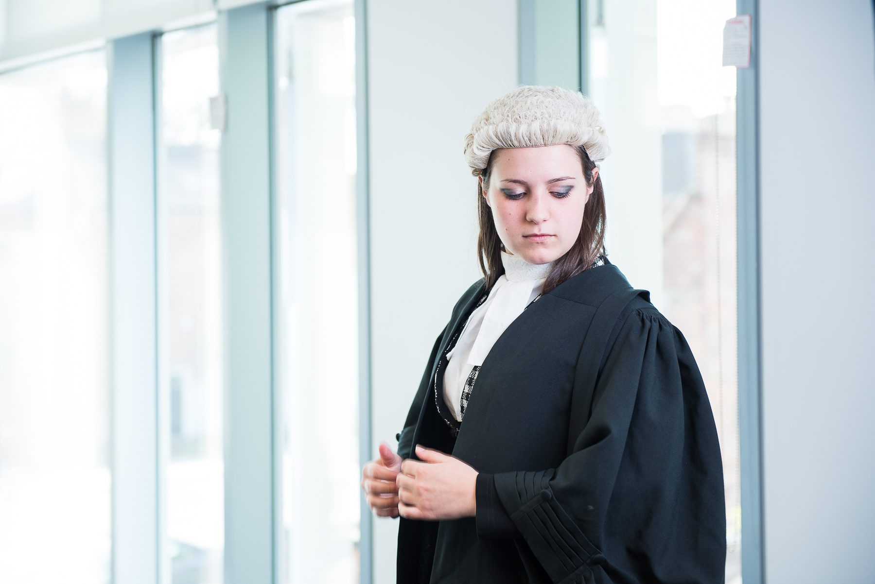 Law student preparing for a case