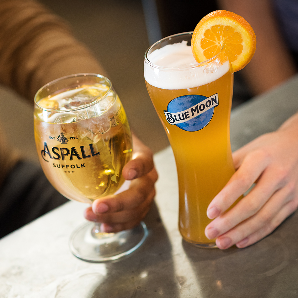 Blue Moon and Aspall lifestyle photography for Molson Coors